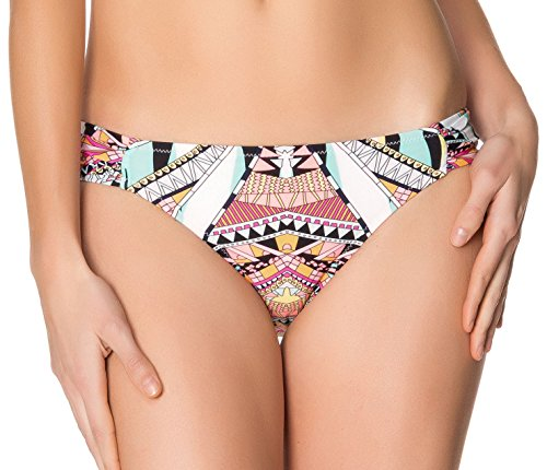 Jessica Simpson Starburst Side geraffte Hipster Bikini Bottoms L - Geraffte Hipster Bottom