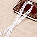 10M x1,5cm Ruban Dentelle Coton Blanc rétro vintage pour couture scrapbooking emballage cadeau