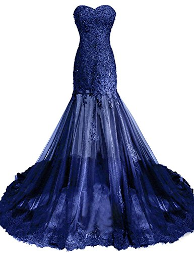 Clearbridal Damen Lange Abendkleid Ballkleid Abschlusskleid Prinzessin Herzausschnitt aus Tüll mit...