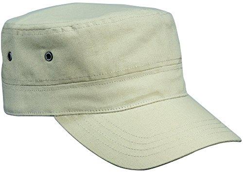 2Store24 Cap im Military Stil aus robustem Baumwoll Canvas - Military Cap in khaki Canvas-cap Khaki