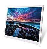 Gaowi Schermo TFT da 20 Pollici HD LED Retroilluminazione 1024 * 768 Cornice Fotografica Digitale Album Elettronico Immagine Musica Ultra-Sottile Widescreen A Pieno Formato,White