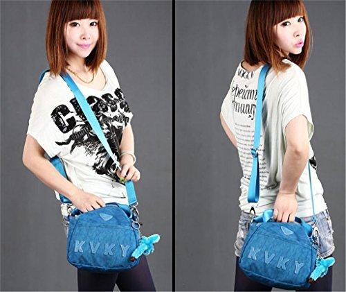 Auspicious beginning Klassische Nylonhandtasche Schultertasche grün Umhängetasche Blau
