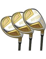 Japon Epron TRG hybrides Club de golf bois Set + Housse cuir (18,21,24degré Loft, Regular Flex, prise en main Standard, Lot de 3)
