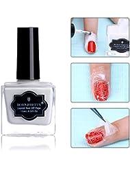 Born Pretty 15ml Latex Blanc Ruban Liquide Base Liquide Nail Art Palisade Pelliculable Nail Art