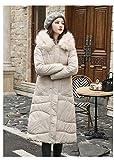 EIJFKNC Daunenjacke Mäntel Winterjacke Damen Han Edition Kleid in Langer Baumwolljacke mit dickem, schwerem Haar. Mitgebrachte Brotbekleidung, Siehe Tabelle, XL