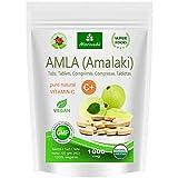 Amla Tabletten 1000 mg Vitaminbombe - 100% Naturprodukt mit Vitamin-C, Chrom, Mineralstoffen, Proteinen und B-Vitaminen. Immunsystem, Antioxidans (60 Amalaki Presslinge)