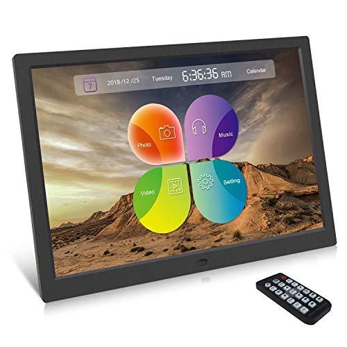 Digitaler Bilderrahmen, SSA 15,4 Zoll, 1280 x 800 hochauflösender Foto- / Musik- / HD-Videoplayer/Kalender/Alarm Auto EIN/Aus-Player mit Fernbedienung