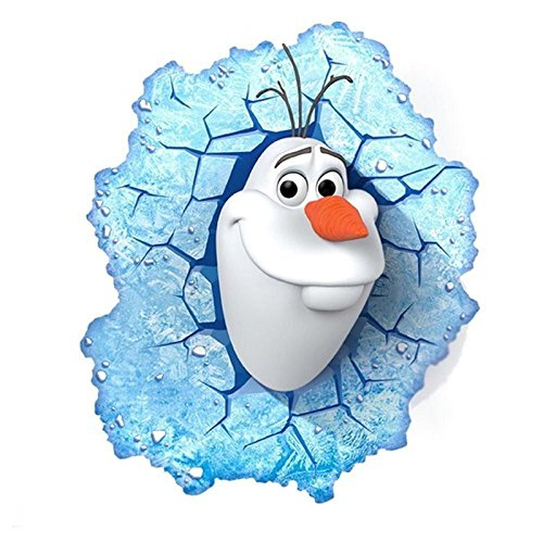 3D-DECO-FX-DISNEY-FROZEN-OLAF-LED-BEDROOM-WALL-NIGHT-LIGHT-WITH-CRACK-STICKER