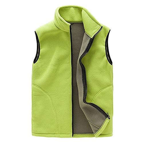 Sunnyuk Damen mäntel ärmellos Stehkragen Parkas mit Filz warm-gefüttert Sweat-Jacke für Women roten blau Sports-wear Vogue Freizeit