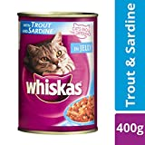 #10: Whiskas Wet Cat Food, Trout & Sardine for Adult cats, 400 g