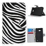 Für Microsoft Lumia 640 , Leathlux Zebra Portemonnaie