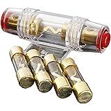 Jauge 4/8 de porte-fusible AGU - TOOGOO(R)Vehicule AGU porte-fusible cable amplificateurs 4/8 jauge de voiture et fusibles 100AMP 4Pcs