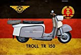 IWL Troll TR 150 Motorrad Motorroller DDR Blechschild Metallschild Schild gewölbt Metal Tin Sign 20 x 30 cm