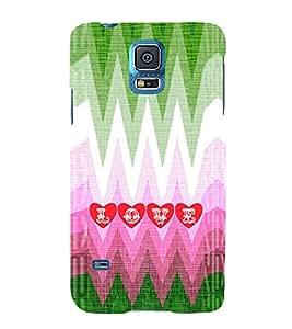 EPICCASE funky love Mobile Back Case Cover For Samsung Galaxy S5 (Designer Case)