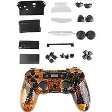 Kit Cáscara Cubierta Funda Protectora Botón Para Mando PS4 Playstation4 Color Oro