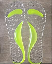 Aeoss silicone seven points pad half-size invisible arch anti-slip pad shock-absorbing shoes high heels insole (Parrot)