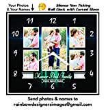 Rainbow Designers Personalised Wall Clock Collage | Family | Anniversary | Birthday |