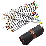 36 Marco Raffine Coloured Pencils for Artist Children Adult Coloring Books with NIUTOP Canvas Pencil Bag Pouch Wrap (36-colors)