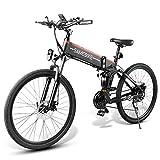 Lixada 26 Pollici Bici elettrica Pieghevole servoassistito Bicicletta elettrica Bici elettrica E-Bike cerchione Scooter ciclomotore 48V 500W Motore