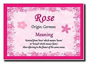 Nome personalizzato con rosa significato Jumbo magnete