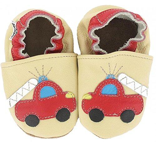 HOBEA-Germany Baby Krabbelschuhe Jungen, Schuhgröße:16/17 (0-6 Monate), Modell Schuhe:Feuerwehr