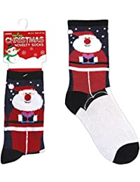 Ladies Novelty Christmas Character Socks Xmas Gift Elf Tree Snowman Santa UK 4-7