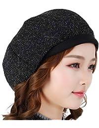 YXLMZ Sombrero de Las Mujeres de la Moda brotes octogonales Sombrero cálido otoño  e Invierno Elegante Boina Sombrero Invierno Inglaterra 7db58a827a5d
