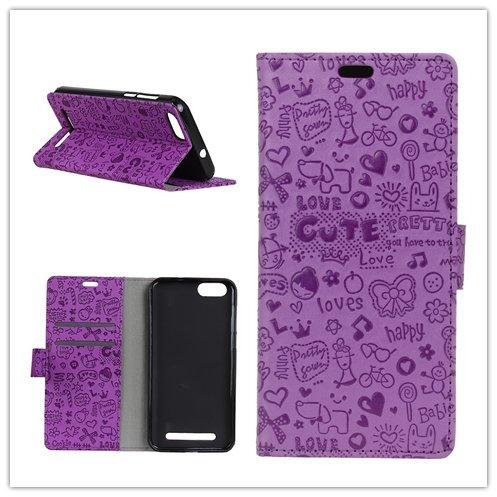 Funda® Flip Brieftasche Hülle für Doogee X30/X30L (Lila)