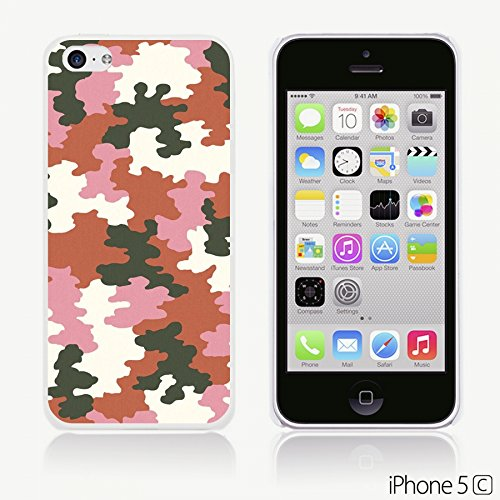 OBiDi - Fabric Pattern Hard Back Case / Housse pour Apple iPhone 5C - Red And Green Paisley Pink Camouflage Texture