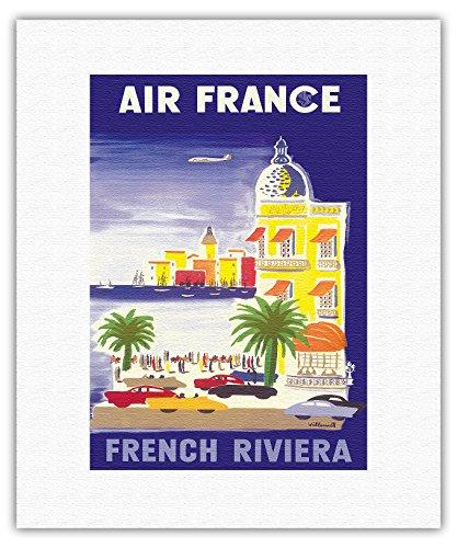 air-france-cote-dazur-france-le-hotel-negresco-affiche-ancienne-vintage-companie-aerienne-poster-avi