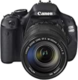 Canon EOS 600D SLR-Digitalkamera (18 Megapixel, 7,6 cm (3 Zoll) schwenkbares Display, Full HD) Kit inkl. EF-S 18-135mm 1:3,5-5,6 IS