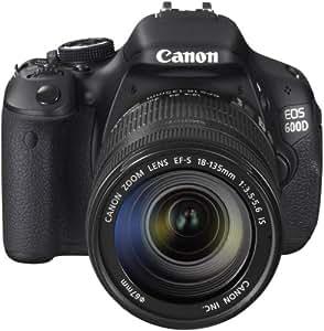 Canon EOS 600D SLR-Digitalkamera (18 Megapixel, 7,6 cm (3 Zoll) schwenkbares Display, Full HD) Kit inkl. EF-S 18-135mm 1:3,5-5,6 IS