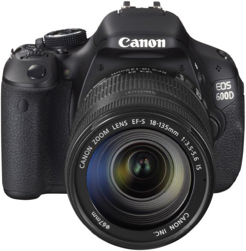 Canon EOS 600D SLR-Digitalkamera (18 MP, 7,6cm (3 Zoll) schwenkbares Display, Full HD, Kit inkl. EF-S 18-135mm 1:3,5-5, 6 IS)