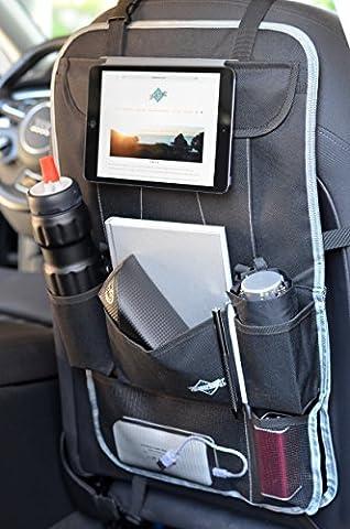 Auto-Rückenlehnenschutz   Sitz Organizer   Auto-Organisator Kinder   Auto-Organizer mit iPad / Tablet-Fach – Rücksitz-Schoner von Globeproof®