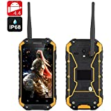 Warrior Phone Plus - Smartphone Android IP68 / CPU 1.7GHz / 2Go de RAM / Écran 4.7 pouces 720p / Talkie Walkie / NFC / GPS / Jaune