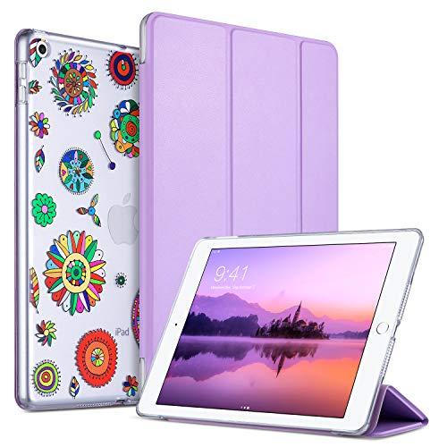ULAK Cover Nuovo iPad 2018/2017 9.7 Pollici, Custodia Ultra Sottile e Leggere, Slim Smart Case Magnetico con la Funzione Auto Sleep per Apple New iPad 9,7 inch 2018/2017 Release, Pinwheels Purple