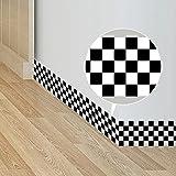 Frolahouse Cenefa de papel pintado para cocina, baño, rollo de bordes de pared extraíbles – estilo europeo y americano Mosaico 10 x 200 cm