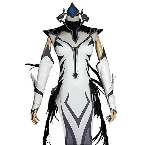 Glam Cos League of Legends Irelia (iGSkin) weibliches Cosplay-Kostüm - Weiß - (Weibliche Videospiel Kostüme)