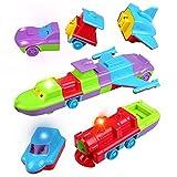 Peradix Giocattoli Veicoli da Assemblare e Spingere Costruzioni Blocchi per Bambini con Luci e Suoni Giochi Creativi