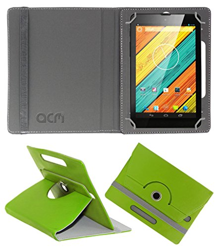 Acm Rotating 360° Leather Flip Case for Digiflip Pro Xt712 Tab Cover Stand Green  available at amazon for Rs.149