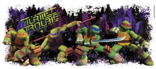 RoomMates 539013 Aufkleber Ninja Turtles Trouble, Vinyl, wiederverwendbar
