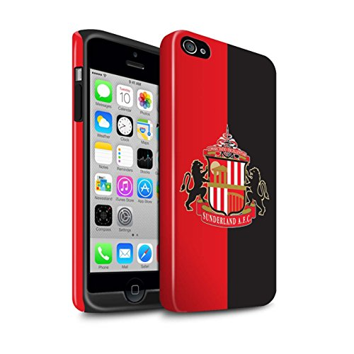 Offiziell Sunderland AFC Hülle / Glanz Harten Stoßfest Case für Apple iPhone 4/4S / Gold Muster / SAFC Fußball Crest Kollektion Rot/Schwarz