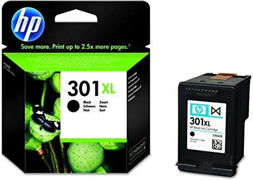 HP 301XL Schwarz Original Druckerpatrone mit hoher Reichweite für HP Deskjet, HP ENVY, HP...