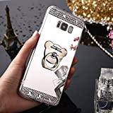 Coque Galaxy S9, Coque Galaxy S9 Miroir et Paillettes, SainCat Ultra Slim Paillette Silicone Coque pour Samsung Galaxy S9, Coque Silicone Bling Brillante Glitter Strass Diamant Motif 3D Ours Silicone Soft Gel TPU Cover Anti-Scratch, Coque Souple Ultra Mince Housse Silicone Ultra Thin Shockproof Shell Ultra Slim Bumper Femme Case Skin Étui Case Coque Anti Choc Housse Bumper Cover pour Samsung Galaxy S9-Argent