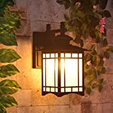 Brand: QIANG wall lamp Lamp Total Height:34cm Lamp Diameter:24cm lamp material:aluminum-glass Light source Type:E27 Voltage: 220V  Suitable Space:5-10Square meters Bulb included: Not included  Number of lights:1 Suitable wattage:31W-40W Suitable Ligh...