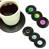 Ozuzu (TM) Posavasos 6PCS/set Spinning Retro Disco de Vinilo Bebidas Posavasos Taza de vinilo (Creative Venta