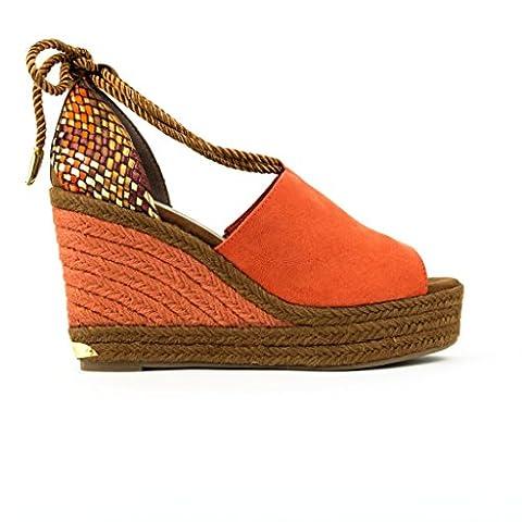 Tamaris 1-28312-28 femmes Sandale Orange, EU 41