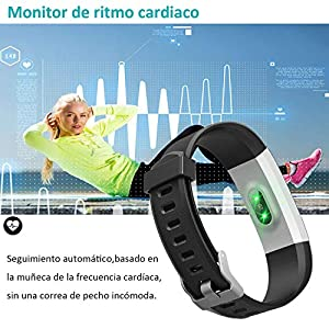 YAMAY Pulsera Actividad, Pulsera Inteligente con Pulsómetro Pulsera Deportiva y Monitor de Ritmo Cardíaco Monitor de Actividad Impermeable IP67 Reloj Fitness Podómetro para Mujer Hombre