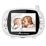 YWNC Baby-Monitor-Bildtelefon Für Baby-Video mit Kamera Drahtloser 3,5-Zoll-LCD-Bildschirm Live-Kamera mit Nachtsicht-Temperatursensor-Temperaturüberwachung Talk-Back-Zweiwegaudio