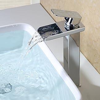 51KeweMISUL. SS324  - HOMELODY Cromado Cascada Grifo Monomando de Lavabo Monomando Baño Grifo Baño Grifo de Cuenca grifería lavabo y Baño